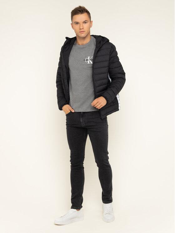 Calvin Klein Jeans Calvin Klein Jeans T-Shirt Monogram Embro J30J313438 Szary Regular Fit
