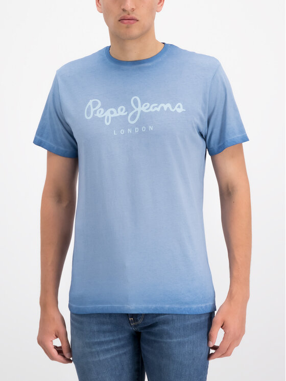 Pepe Jeans Pepe Jeans Póló West Sir PM504032 Kék Regular Fit