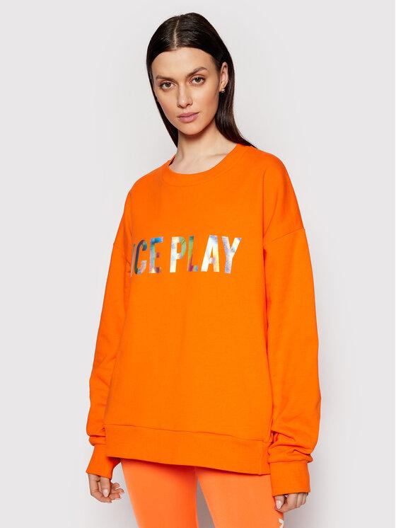 Ice Play Džemperis 21E U2M0 E051 P451 3165 Oranžinė Loose Fit
