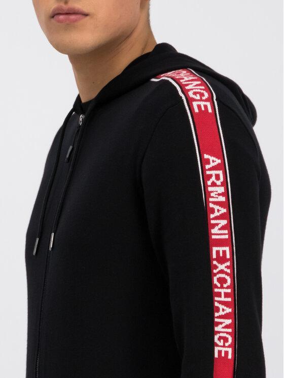 Armani Exchange Armani Exchange Bluza 6GZE1G ZMU5Z 1200 Czarny Regular Fit