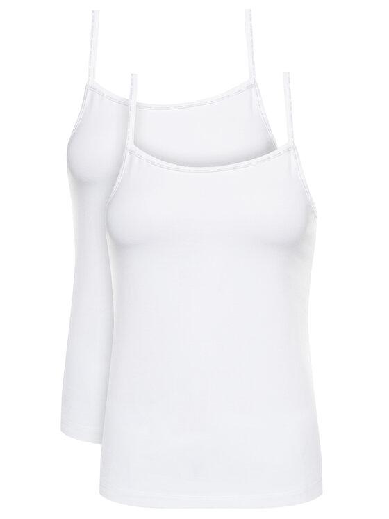 Calvin Klein Underwear 2 marškinėlių komplektas Cami 000QS6440E Balta Regular Fit