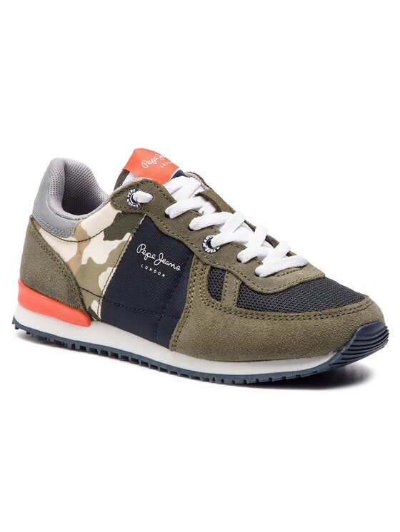 Pepe Jeans Pepe Jeans Sneakersy Sydney Camu Summer PBS30392 Zielony