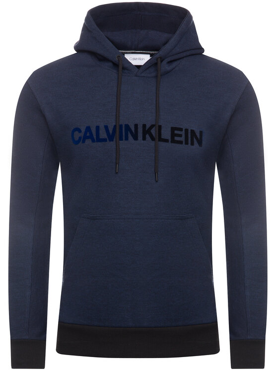 Calvin Klein Calvin Klein Mikina Tone On Tone Logo K10K104954 Tmavomodrá Regular Fit