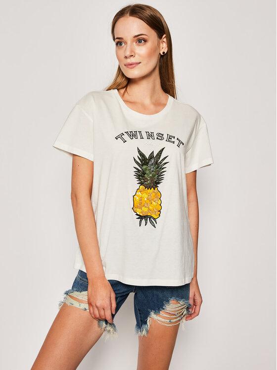 My Twin Marškinėliai 201TT250A Balta Regular Fit