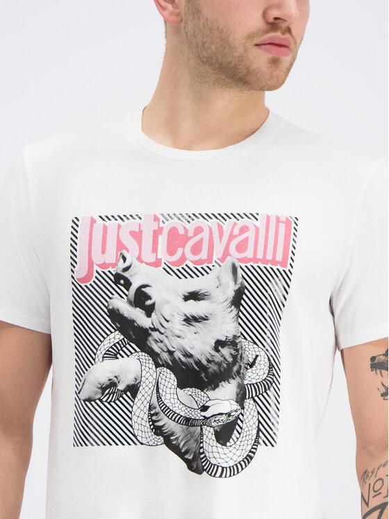 Just Cavalli Just Cavalli Tričko S03GC0518 Biela Regular Fit