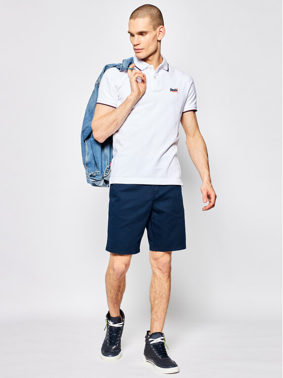 Superdry Superdry Polo Poolside Pique M1110013A Bianco Regular Fit