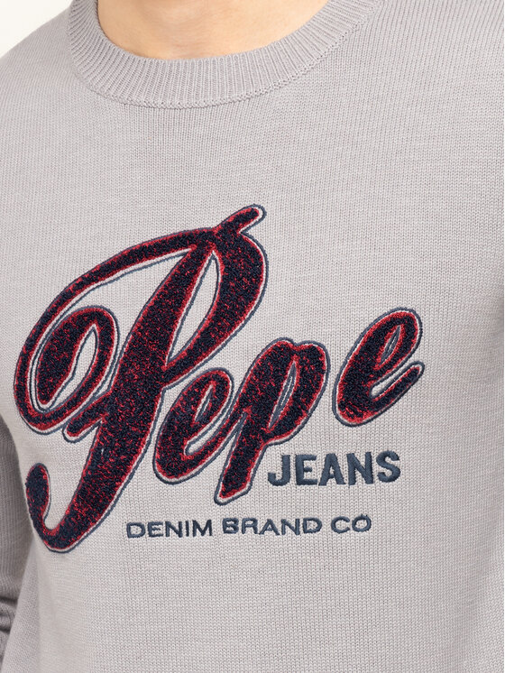 Pepe Jeans Pepe Jeans Пуловер Gabriel PM701973 Сив Regular Fit