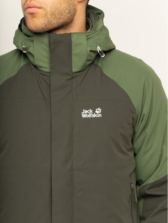 Jack Wolfskin Jack Wolfskin Többfunkciós dzseki Steting Peak 1112211 Zöld Regular Fit