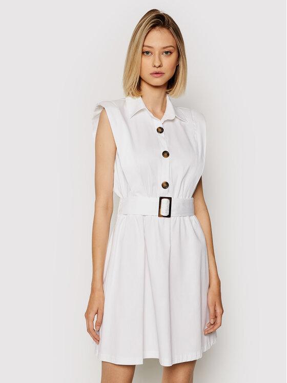 Rinascimento Kasdieninė suknelė CFC0103746003 Balta Regular Fit