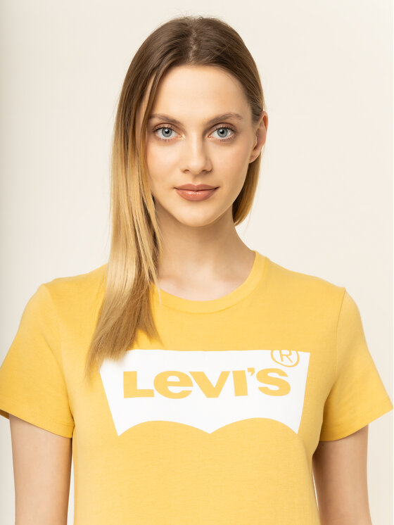 Levi's® Levi's® T-Shirt The Perfect Graphic Tee 17369-0778 Gelb Regular Fit