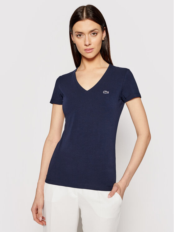 Lacoste Lacoste T-Shirt TF0999 Granatowy Regular Fit