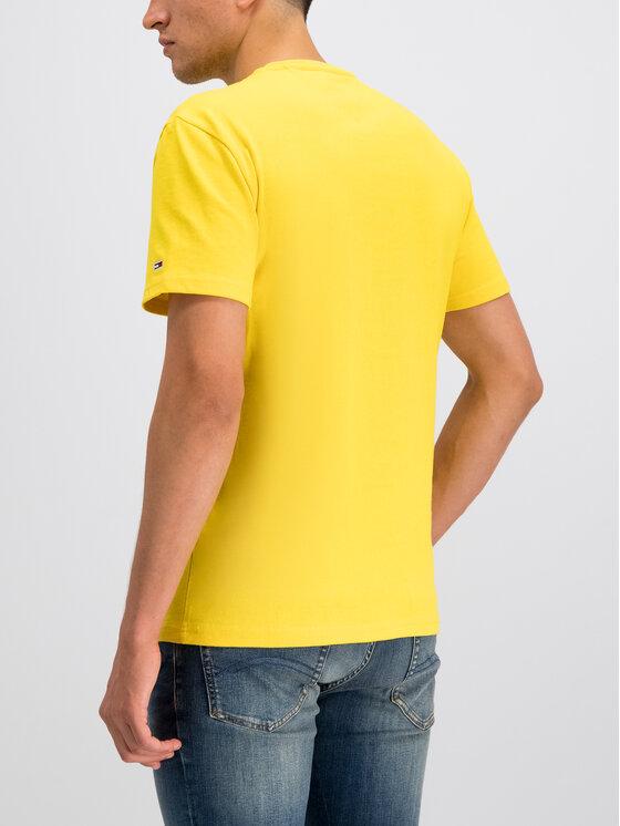 Tommy Jeans Tommy Jeans Тишърт Flag Logo DM0DM07009 Жълт Regular Fit
