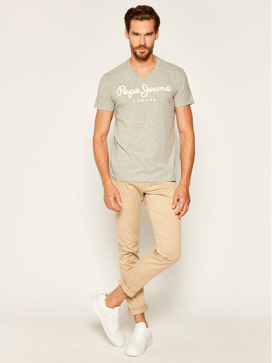 Pepe Jeans Pepe Jeans T-Shirt Original Stretch V PM500373 Γκρι Slim Fit