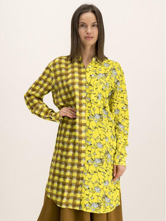 Hugo Sukienka koszulowa 50416867 Żółty Relaxed Fit