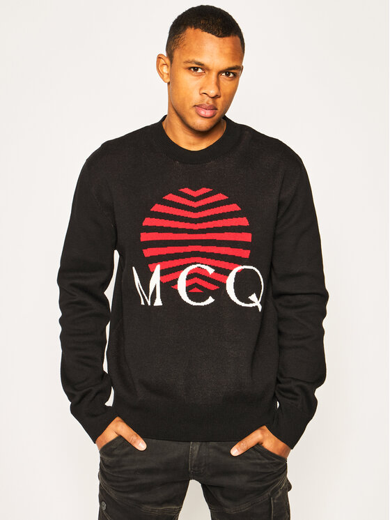 MCQ Alexander McQueen Megztinis 577570 RON01 1000 Juoda Regular Fit