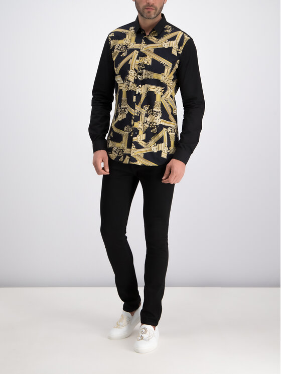 Versace Jeans Versace Jeans Košeľa B1GTB6S2 Čierna Slim Fit