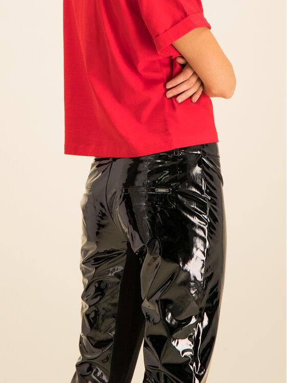 Guess Guess Kalhoty z imitace kůže Menodora W01B73 WBUE0 Černá Regular Fit