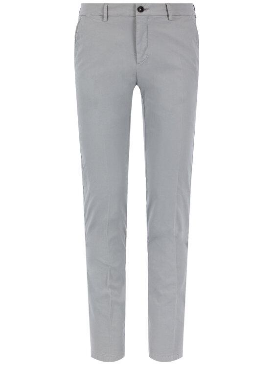 Tommy Hilfiger Tailored Tommy Hilfiger Tailored Medžiaginės kelnės Flex TT0TT06924 Pilka Slim Fit