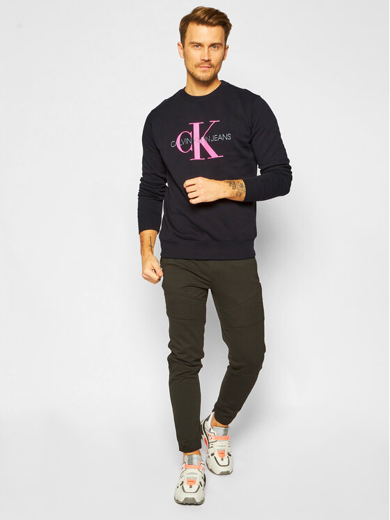 Calvin Klein Jeans Calvin Klein Jeans Bluza Monogram Logo J30J315595 Czarny Regular Fit