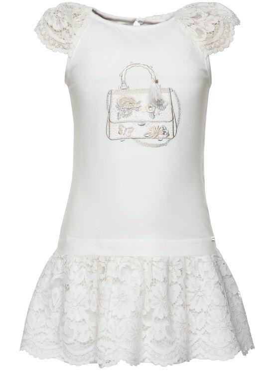 Mayoral Mayoral Σετ T-Shirt και φούστα 3958 Λευκό Regular Fit