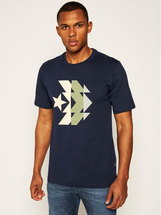 Converse Converse T-Shirt Kaleidoscope Star Chevron 10019597-A04 Σκούρο μπλε Regular Fit