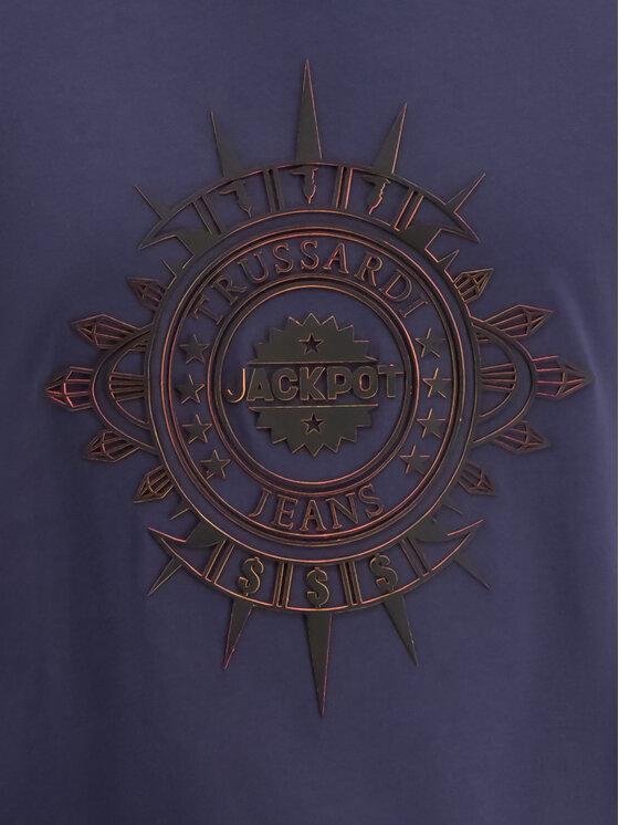 Trussardi Trussardi T-Shirt 52T00219 Granatowy Regular Fit