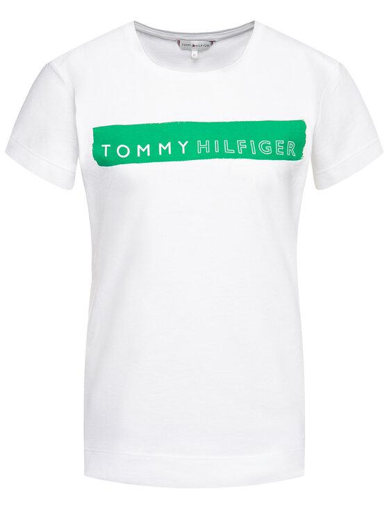 Tommy Hilfiger Tommy Hilfiger Tricou WW0WW25177 Alb Regular Fit