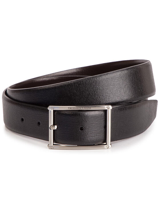 Trussardi Jeans Trussardi Jeans Ζώνη Ανδρική Business Affair Kit 71L00079 Μαύρο