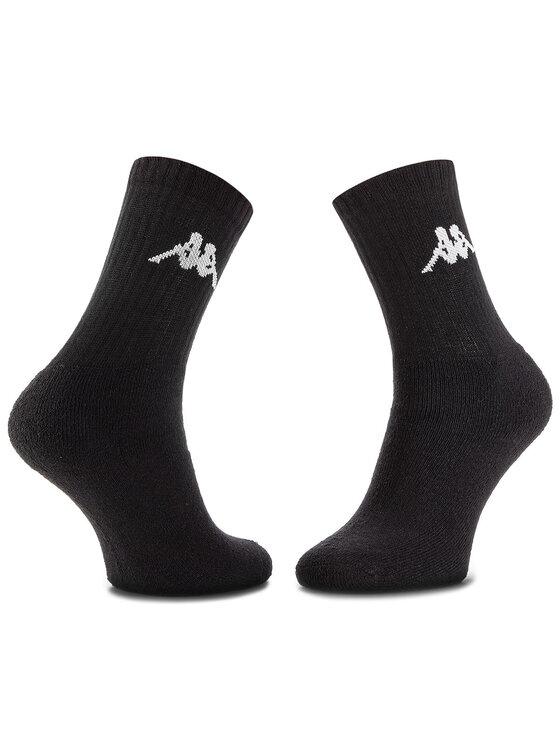 Kappa Kappa Sada 3 párů vysokých ponožek unisex Sonotu 704304 Černá