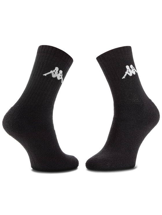 Kappa Kappa Súprava 3 párov vysokých ponožiek unisex Sonotu 704304 Čierna