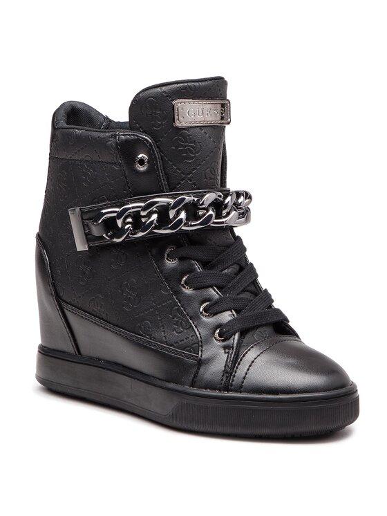 Guess Guess Sneakersy FLFLR4 FAL12 Czarny