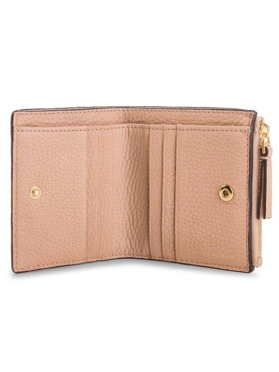 Tory Burch Tory Burch Mały Portfel Damski Mcgraw Mini Foldable Wallet 45246 Różowy