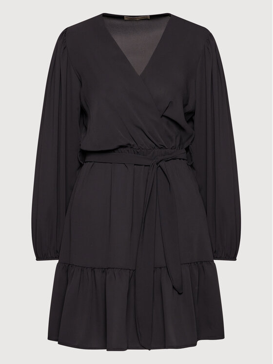 Rinascimento Rinascimento Sukienka koktajlowa CFC0103974003 Czarny Regular Fit