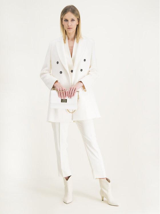Marella Marella Płaszcz wełniany Muriel 30110501 Biały Regular Fit