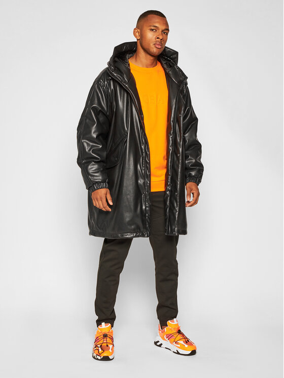 MSGM MSGM Kožená bunda 2940MH20 207652 Černá Regular Fit