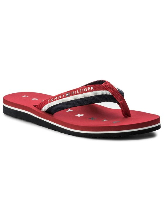 Tommy Hilfiger Tommy Hilfiger Zehentrenner Tommy Loves Ny Beach Sandal FW0FW02370 Rot