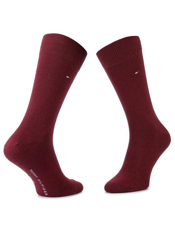 Tommy Hilfiger Tommy Hilfiger Комплект 2 чифта дълги чорапи мъжки 492011001 Бордо