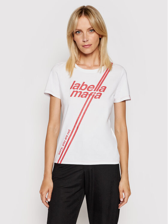 LaBellaMafia Marškinėliai 20302 Balta Slim Fit