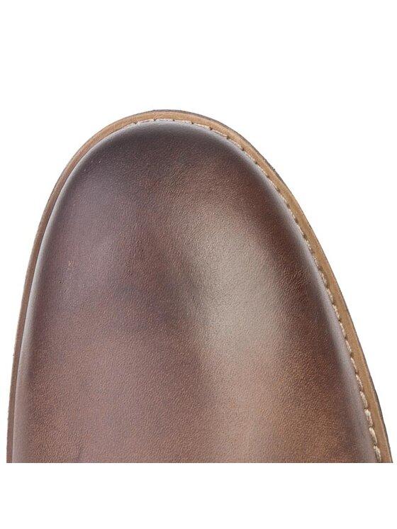 Clarks Clarks Kotníková obuv Novato Mid 261025047 Hnědá