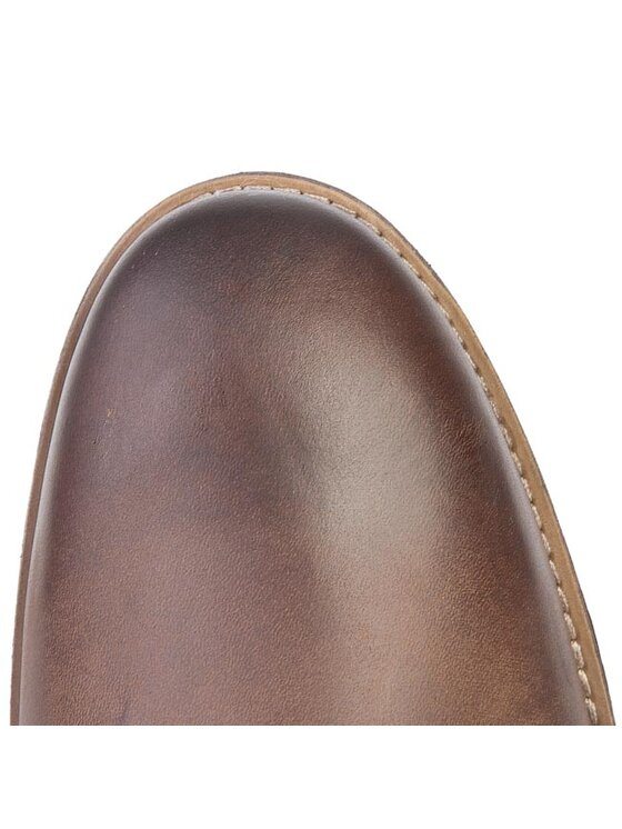 Clarks Clarks Šnurovacia obuv Novato Mid 261025047 Hnedá
