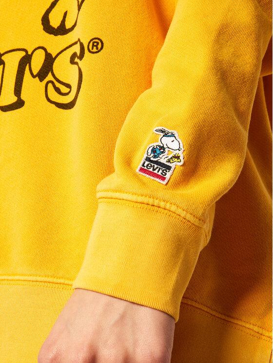 Levi's® Levi's Džemperis PEANUTS® Graphic Crew 77376-0005 Geltona Regular Fit
