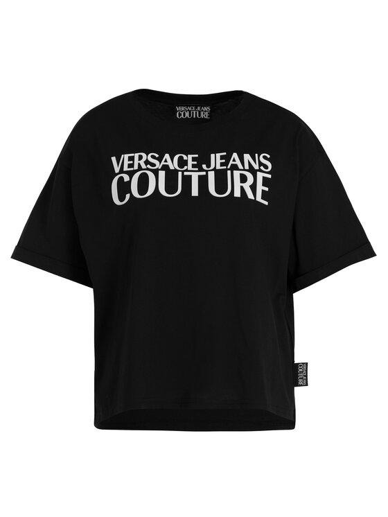 Versace Jeans Couture Versace Jeans Couture T-Shirt B2HUA7HT Černá Oversize