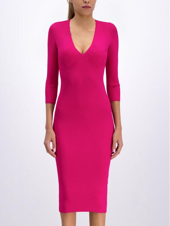 Elisabetta Franchi Elisabetta Franchi Trikotažinė suknelė AM-53B-96E2-V229 Rožinė Slim Fit