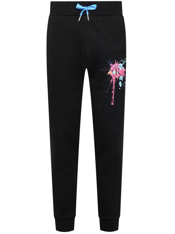 Rage Age Rage Age Spodnie dresowe Splashskull1 1 Czarny Regular Fit