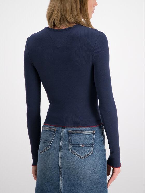 Tommy Jeans Tommy Jeans Блуза DW0DW06752 Тъмносин Slim Fit