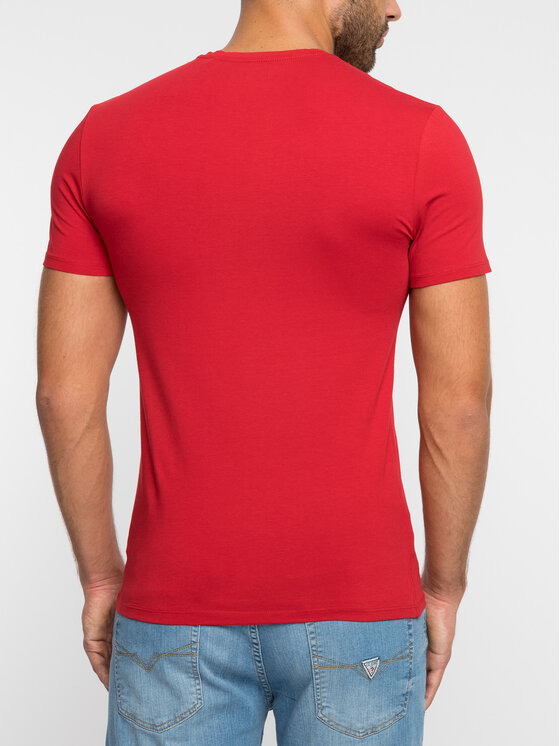 Guess Guess Marškinėliai M92I08 J1300 Raudona Super Slim Fit