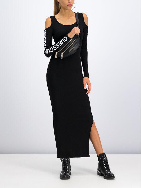 Guess Guess Každodenné šaty W93K72 K8RT0 Čierna Slim Fit