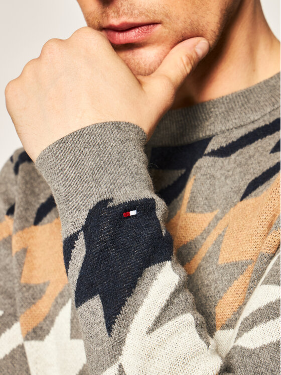 Tommy Hilfiger Tailored Tommy Hilfiger Tailored Sweater Macro TT0TT06179 Szürke Regular Fit