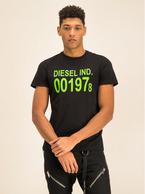 Diesel Diesel Tricou Diego 00SASA 0AAXJ Negru Regular Fit