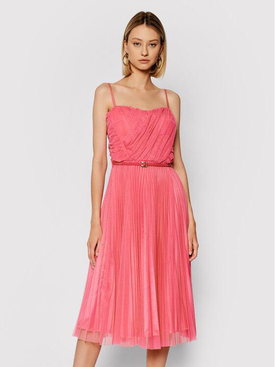 Rinascimento Kokteilinė suknelė CFC0103673003 Rožinė Regular Fit